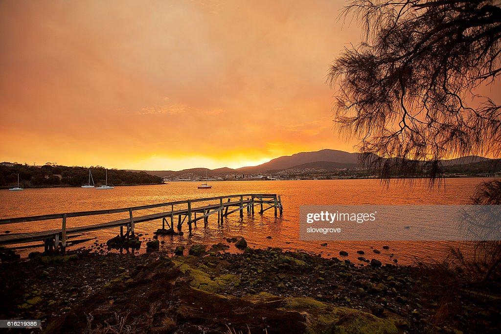 River Derwent Hobart : Stock Photo