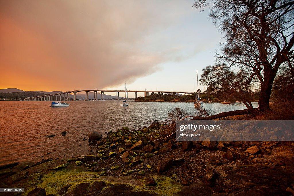 River Derwent Hobart : Stockfoto
