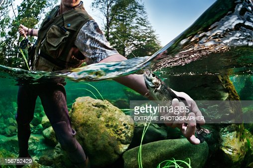 River Fishing : Stock Photo
