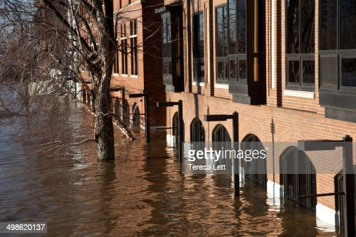 River flooding a building