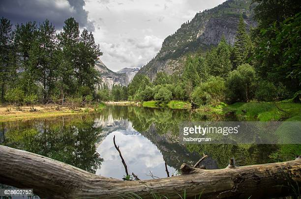 River, Forest and Mountains in Yosemite Valley