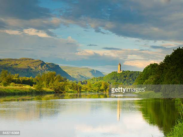Fluss Forth, Stirling Blick in die Wallace-Denkmal.