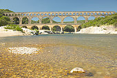River Gard and the Pont du Gard, Nimes, France