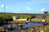 River gauging station on Trout Beck stream Upper Teesdale northern Pennines England