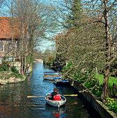 River Grat Stour through Canterbury, England