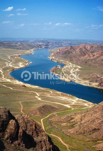 River Ili in Kazakhstan : Stock Photo