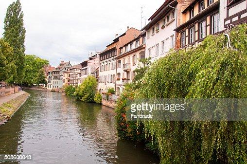 River ill Strasbourg Alsace France : Stock Photo