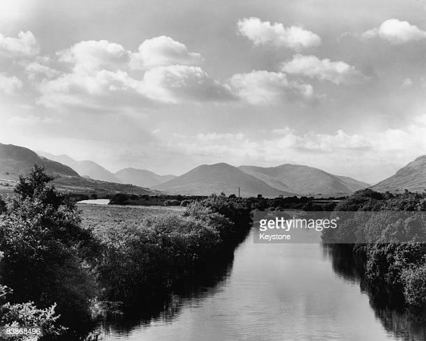 A river in County Galway Ireland circa 1955