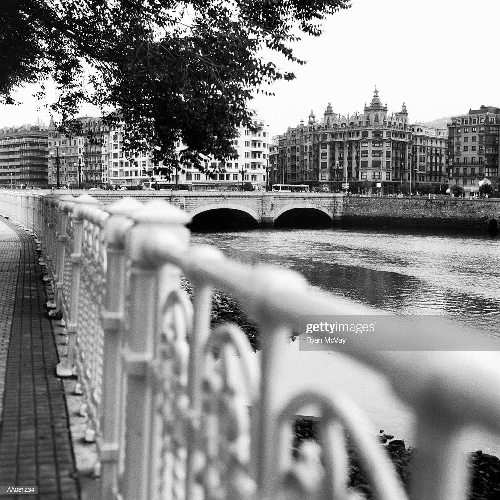 River in San Sebastian, Spain : Stock Photo