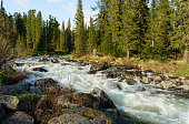 river in Sayan mountains, Ergaki, south East Siberia