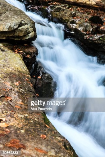 River in the forest in the Poconos, Pennsylvania : Stock Photo