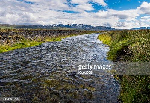 River Markarfljot on Iceland : Foto de stock