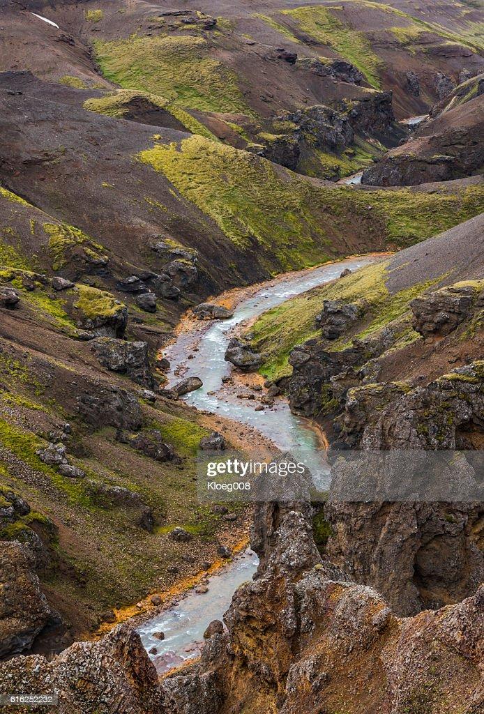 River Mountains Kerlingarfjoll Iceland : Foto de stock
