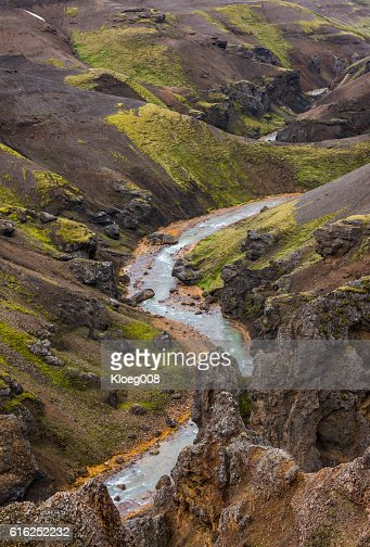 River Mountains Kerlingarfjoll Iceland : Foto de stock
