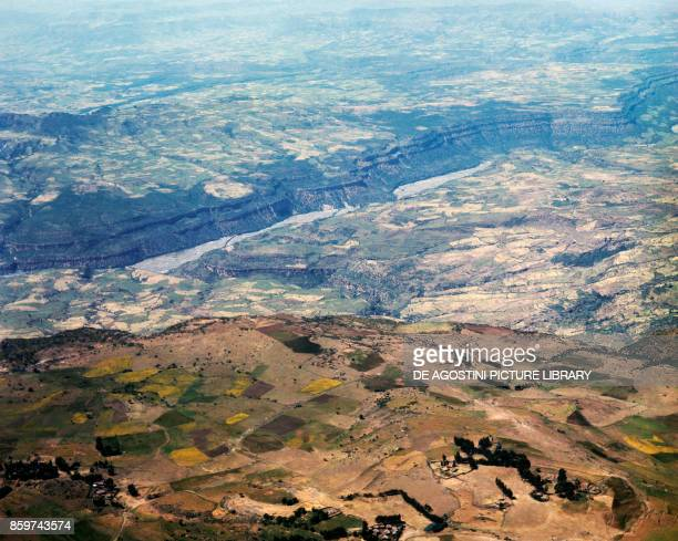River Nile Valley near Mot'a Amhara region Ethiopia