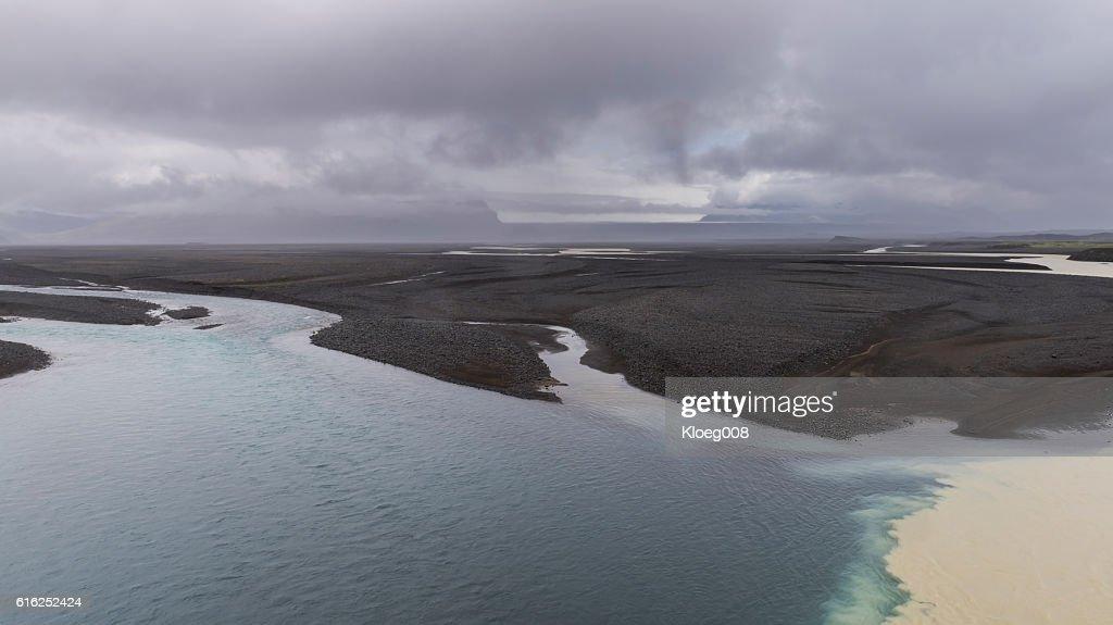River Nupsvotn near Kalfafell, Iceland : Foto de stock