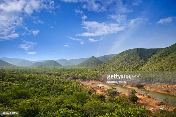 River passing through landscape, Visakhapatnam, Andhra Pradesh, India