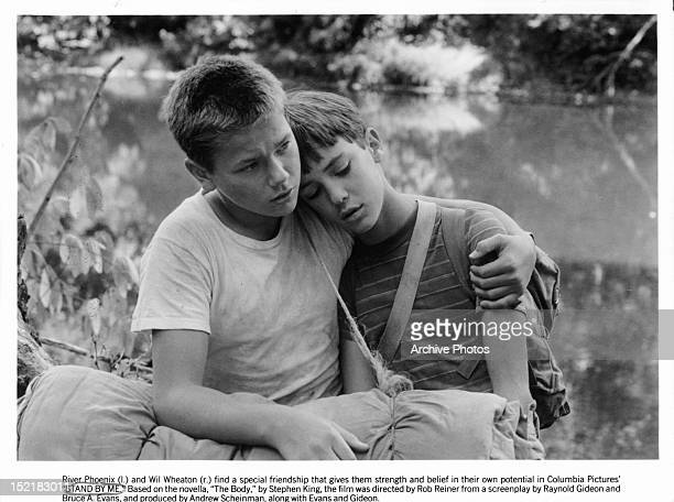 River Phoenix comforts Wil Wheaton in a scene from the film 'Stand By Me' 1986