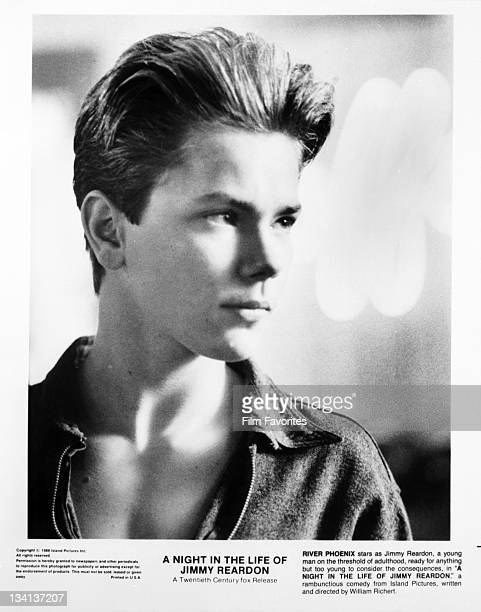 River Phoenix looking to his left in a scene from the film 'A Night In The Life Of Jimmy Reardon' 1988