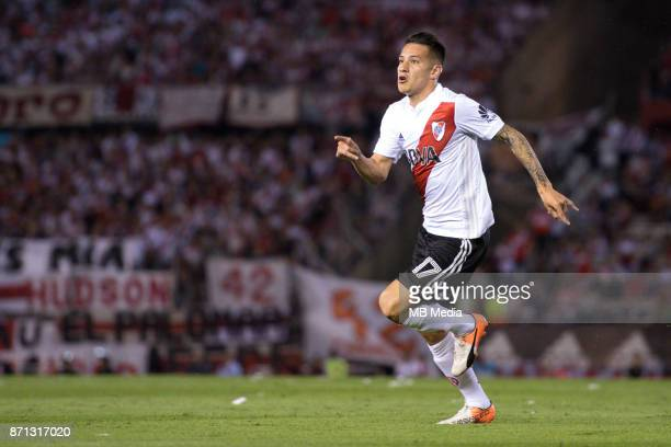 NOVEMBER 05 River Plate Carlos Auzqui during the superliga Argentina match between River Plate and Boca Juniors at Estadio El Monumental 'n