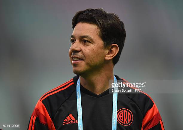 River Plate coach Marcelo Gallardo River Plate during a training session at Osaka Nagai Stadium on December 15 2015 in Osaka Japan