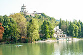 Landscape of river Po at Turin, Italy