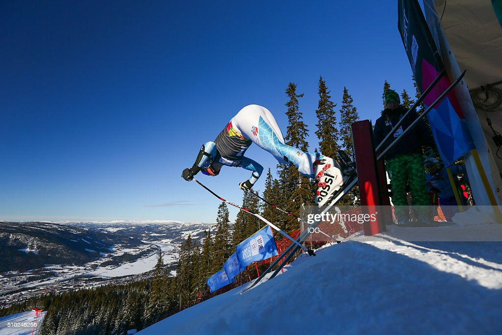 River Radamus of the United States competes during the Men's Alpine Combined Super-G Hafjell Olympic Slope during the Winter Youth Olympic Games on February 14, 2016 in Lillehammer, Norway.