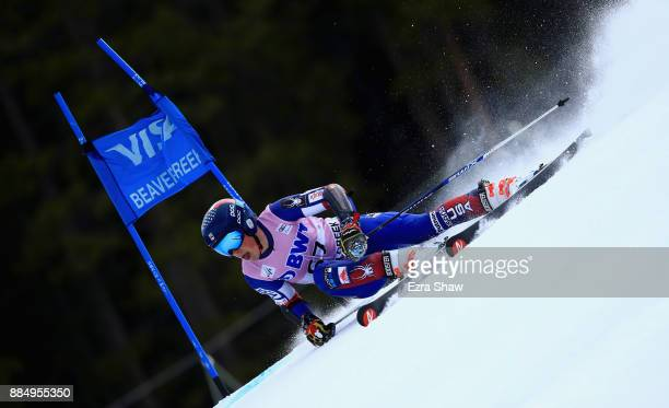 River Radamus of the United States competes in the first run of the Birds of Prey World Cup Giant Slalom race on December 3 2017 in Beaver Creek...