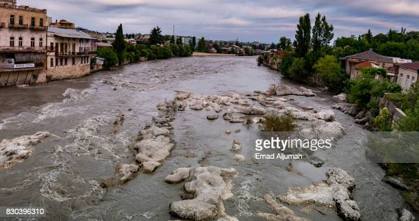 River Rioni as it flows in Kutaisi, Georgia - June 27, 2017