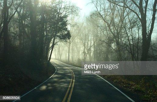 River Road : Foto de stock