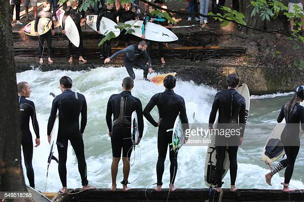 River Surfing at the Eisbach