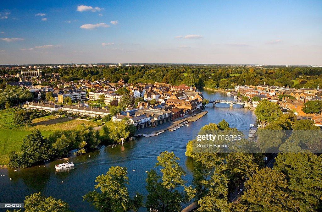 River Thames, Eton on left bank, Windsor on right