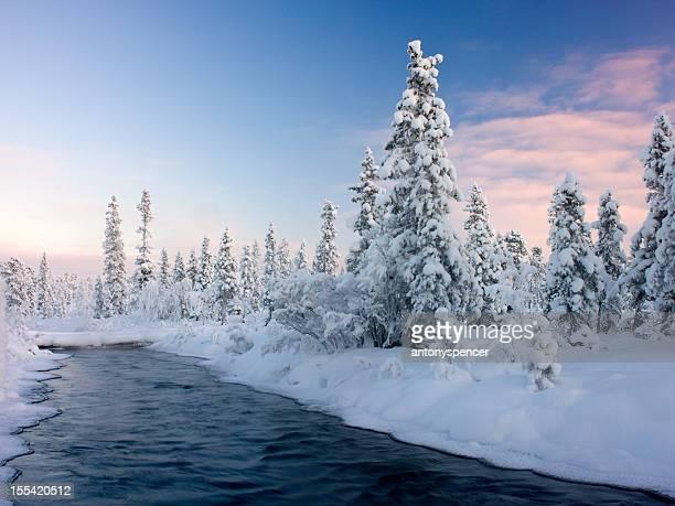 River durch Schwedisch-Lappland.