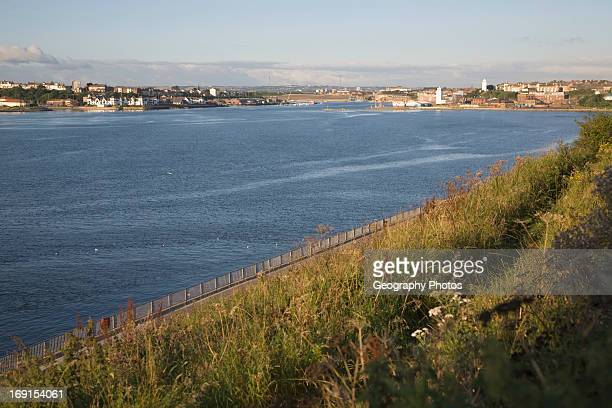 River Tyne at Tynemouth Northumberland England