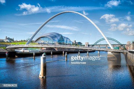 River Tyne, HDR image, Newcastle, UK