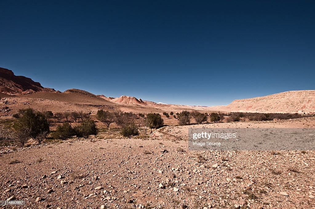 River Valley, Tamdaght, Morocco, North Africa