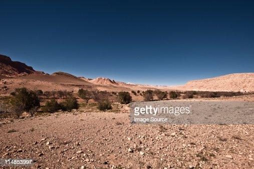 渓谷、Tamdaght 、モロッコ、北アフリカ