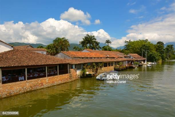 River view in the town of Paraty, Rio de Janeiro
