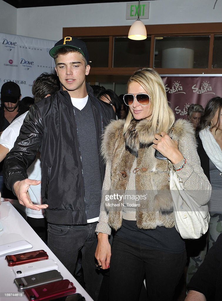 River Viiperi and Paris Hilton attend the TR Suites Daytime Lounge - Day 2 on January 19, 2013 in Park City, Utah.