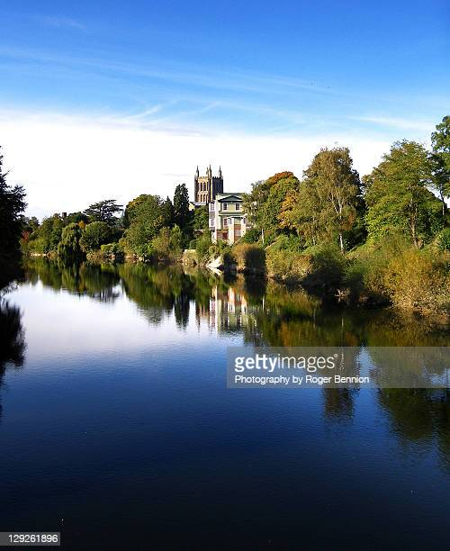 River wye and hereford cathedral