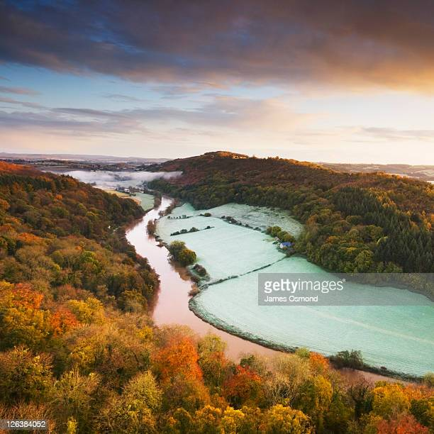 River Wye from the Yat Rock viewpoint, Symonds Yat. Herefordshire. England. UK.