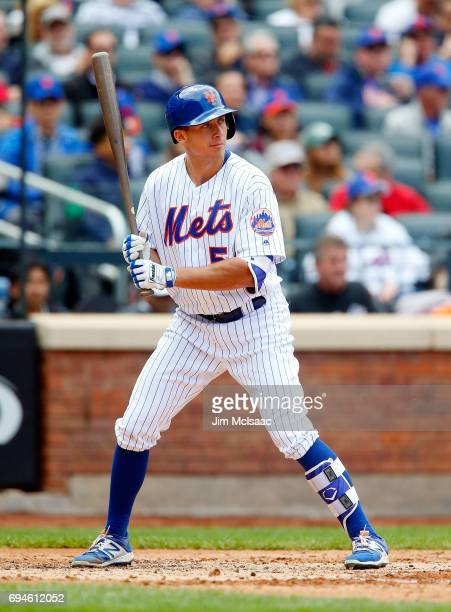 J Rivera of the New York Mets in action against the San Francisco Giants at Citi Field on May 10 2017 in the Flushing neighborhood of the Queens...