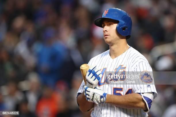 TJ Rivera of the New York Mets preparing to bat during the San Francisco Giants Vs New York Mets regular season MLB game at Citi Field on May 09 2017...