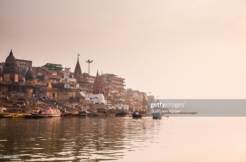 Riverbank of Varanasi early morning
