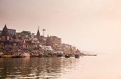 Riverbank of Varanasi early morning