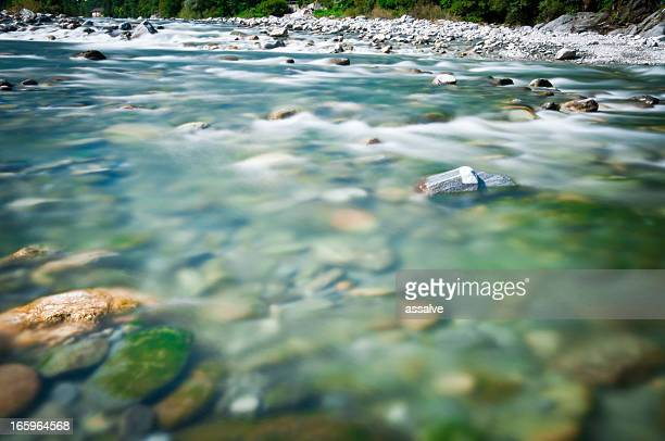 riverbed of river Maggia in Switzerland