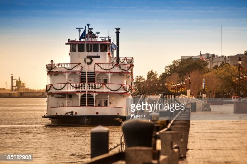 Riverboat floats on the Savannah River