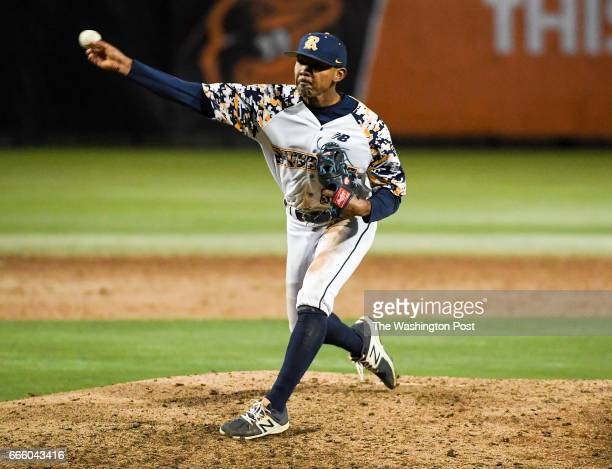 Riverdale Baptist starting pitcher Harold Cortijo throws a complete game against DeMatha in Bowie MD on April 7 2017