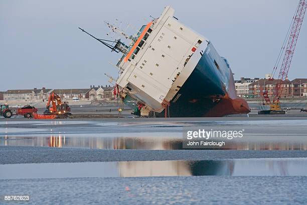 Riverdance ferry Rescue operation, Blackpool, England
