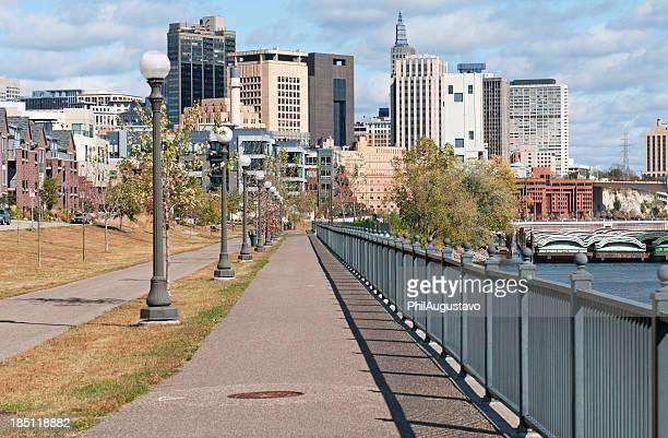 Riverfront walk in downtown St. Paul MN